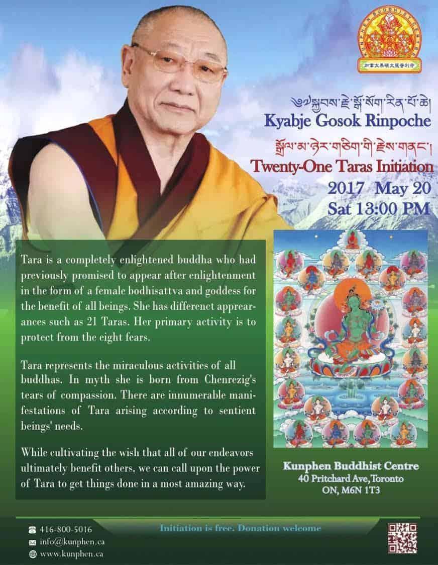 Gosok Rinpoche Toronto 2017 21Tara Eng