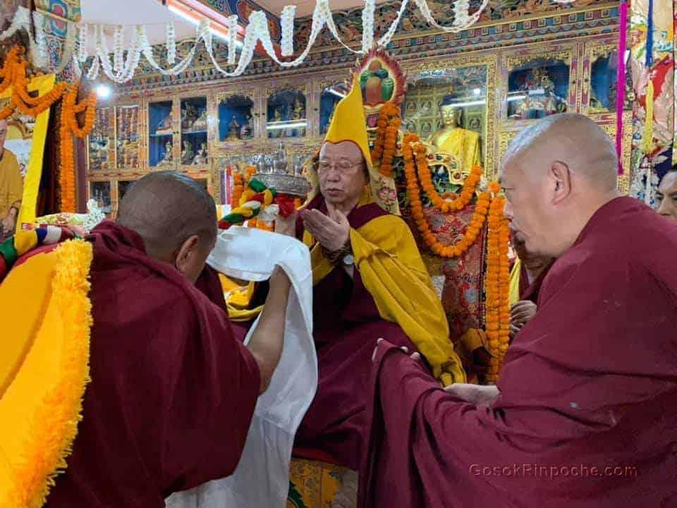 Gosok Rinpoche visit Keydong Thukche Choling Nunnery 2019