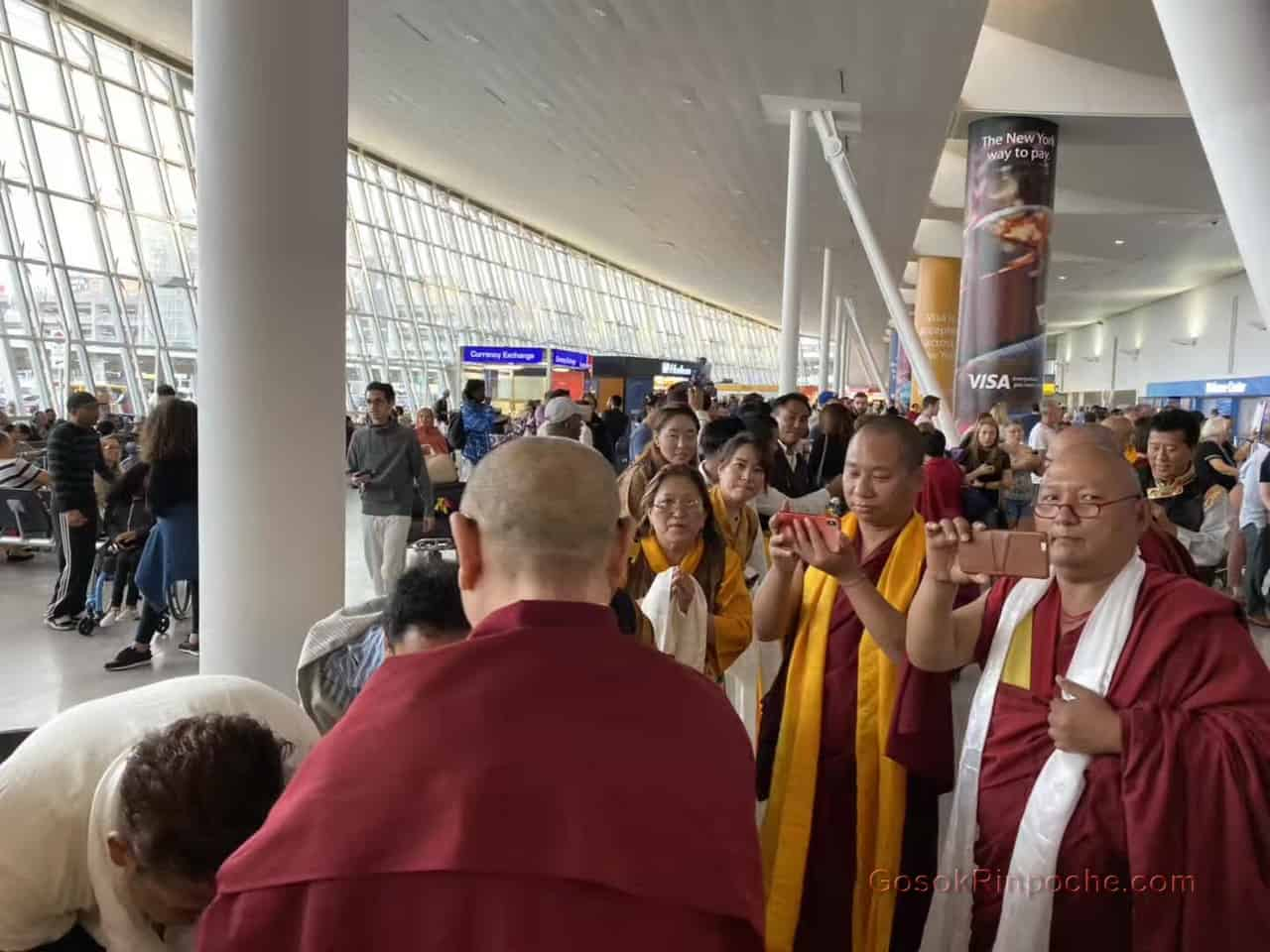 Gosok Rinpoche NYC airport 20190926184753
