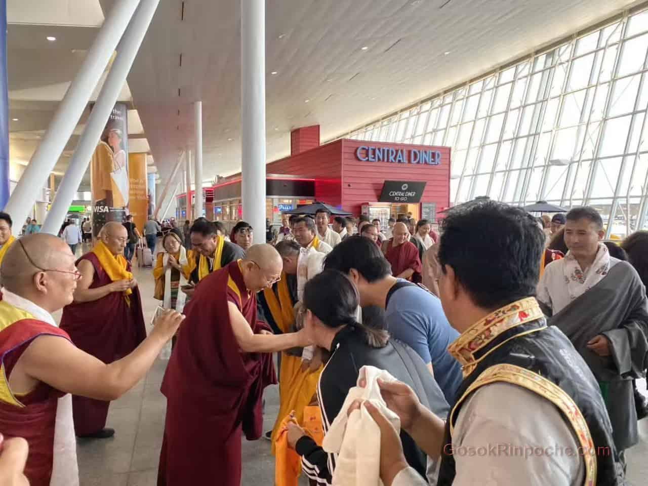 Gosok Rinpoche NYC airport 20190926184814