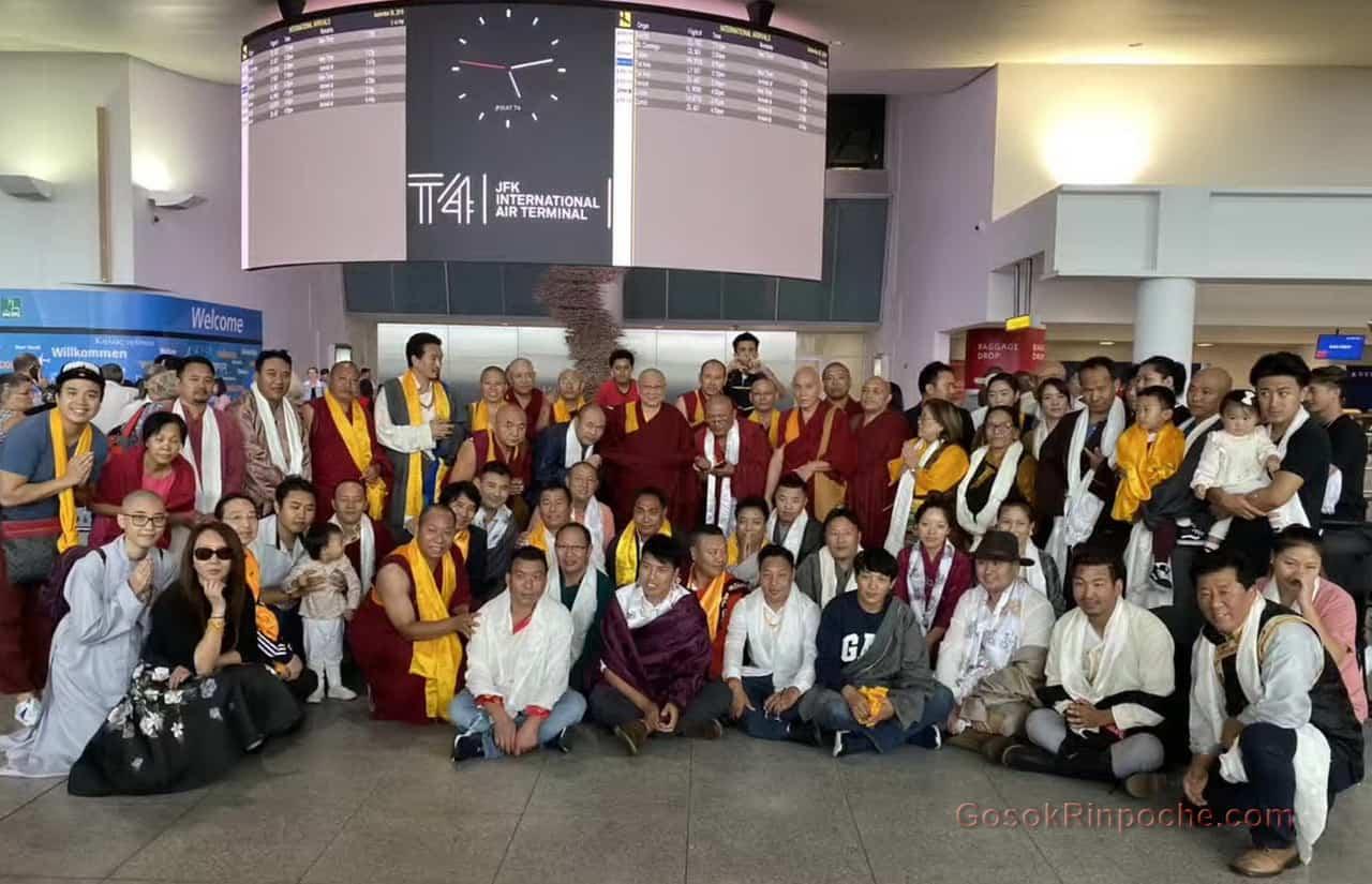 Gosok Rinpoche NYC airport 20190926184825