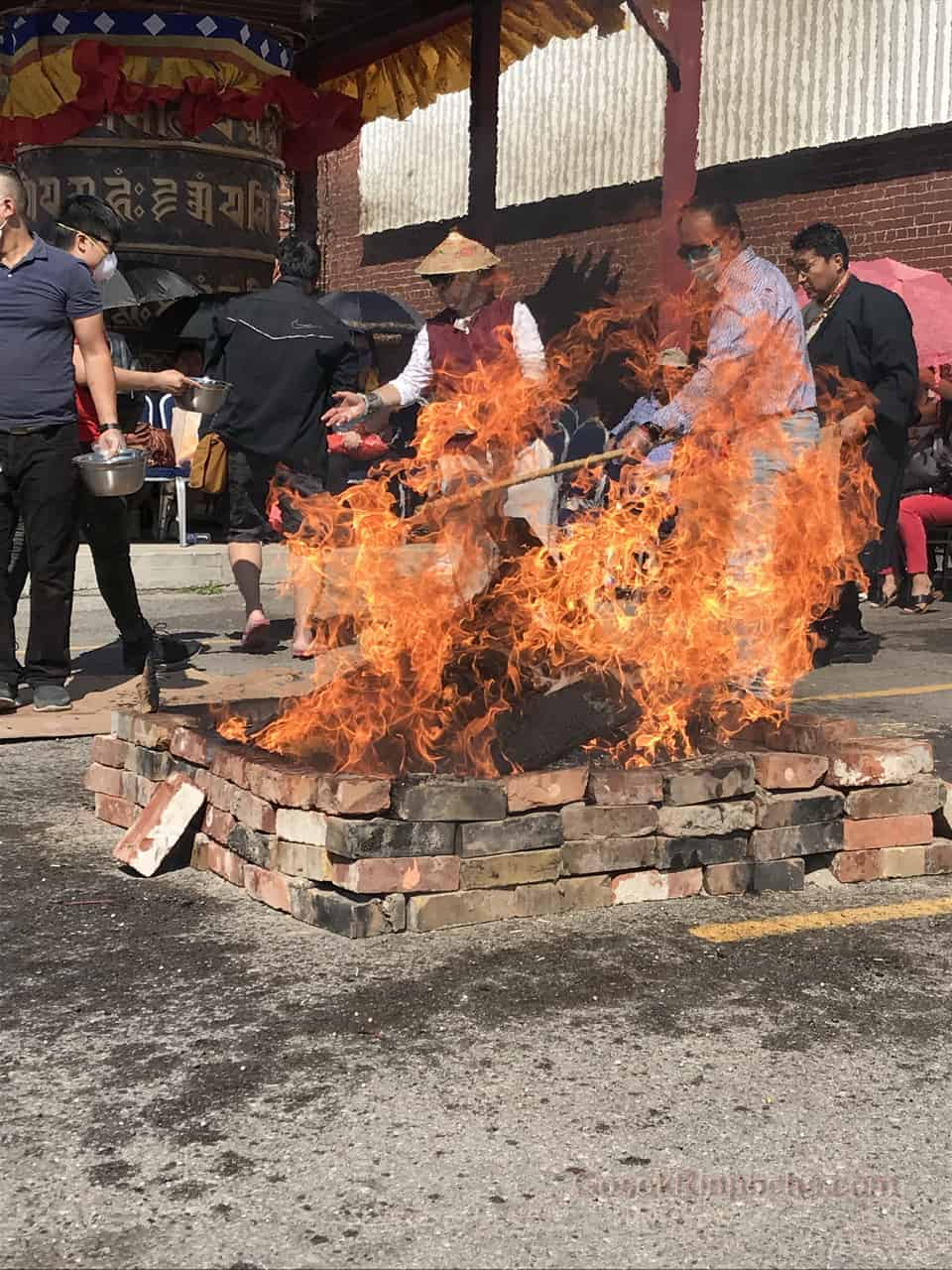 Gosok Rinpoche fire puja 20190923122531